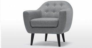 Dove Grey Penthouse Style Armchair