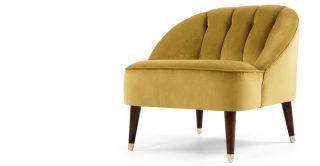 Vintage Mustard Velvet Armchair